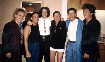 Gary Lewis & the Playboys backstage in Las Vegas at The Aladdin with Jerry Lewis - 1993