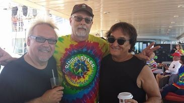 """Billy & I on the ship with Harold Rubin of the Lava Lamp Serenade radio show"""