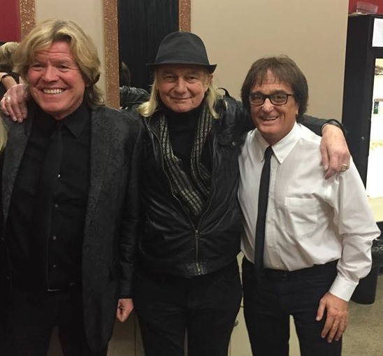 """w Peter Noone & Alan White (Yes, John Lennon) before our show on March 6"""