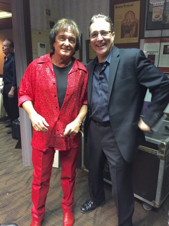 """backstage with Ray Carr just before showtime"""